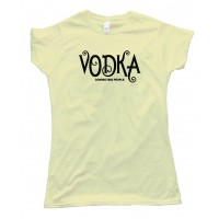 Womens Vodka Connecting People - Tee Shirt