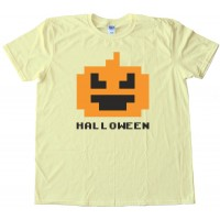 8 Bit Halloween Pumpkin - Tee Shirt
