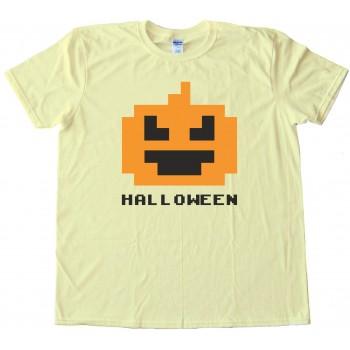 8 Bit Halloween Pumpkin - Tee Shirt
