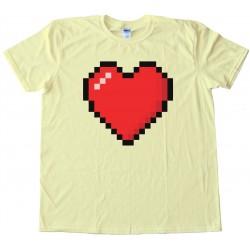 8 Bit Heart Shirt - Tee Shirt