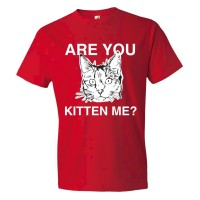 Are You Kitten Me? Cat Person - Tee Shirt