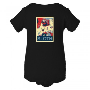 Baby Bodysuit Sloth Face Plain Simple