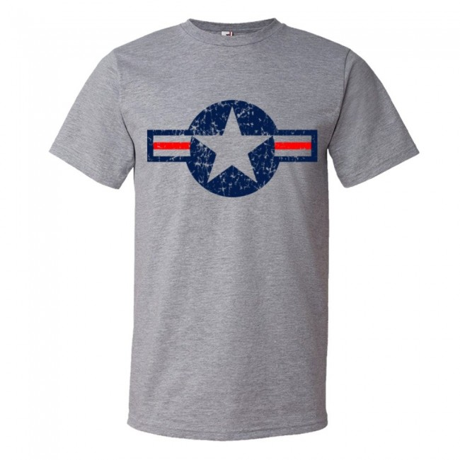 Classic american military star air force tee shirt for All american classic shirt