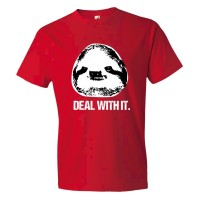 Deal With It Sloth - Tee Shirt