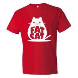 Fat Cat Feline Roundest - Tee Shirt
