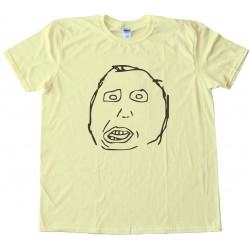 Moron Rage Comic Face Tee Shirt