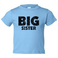 Toddler Sized Big Sister - Toddler Tee Shirt Rabbit Skins