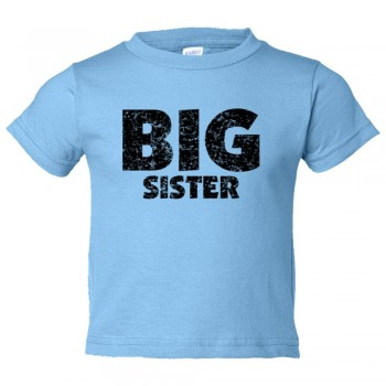 Toddler Sized Big Sister - Toddler Tee Shirt Rabbit Skins