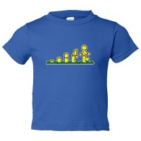 Toddler Sized Lego Evolution Lego Man - Tee Shirt Rabbit Skins