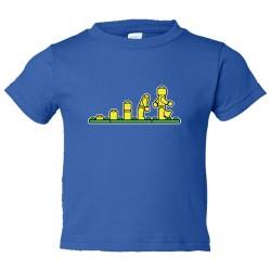 Toddler Sized Lego Evolution Lego Man - Tee Shirt Rabbit Skins