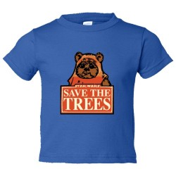 Toddler Sized Save The Trees Star Wars Ewok - Tee Shirt Rabbit Skins