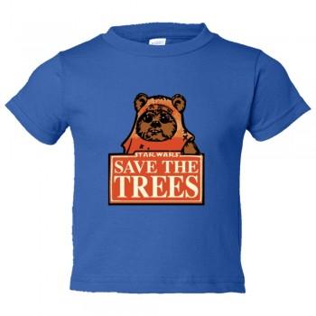 Toddler Sized Save The Trees Star Wars Ewok - Tee Shirt Rabbit Skins