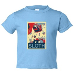 Toddler Sized Sloth Face Plain Simple - Tee Shirt Rabbit Skins