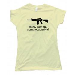 Womens Here Zombie  Zombie  Zombie - Tee Shirt