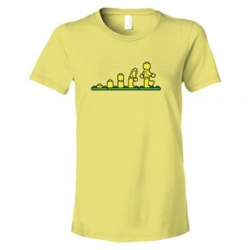 Womens Lego Evolution Lego Man - Tee Shirt