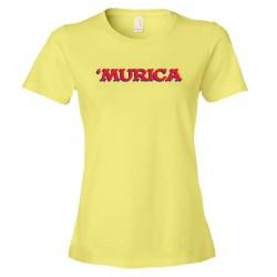 Womens 'Murica American Spirit George Bush Style - Tee Shirt