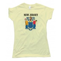 Womens New Jersey State Flag - Tee Shirt