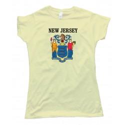 Womens New Jersey State Flag - Tee Shirt