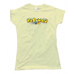 Womens Pacman Fever Classic Gaming Logo - Tee Shirt