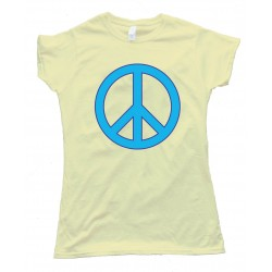 Womens Peace Sign - Retro Tee Shirt