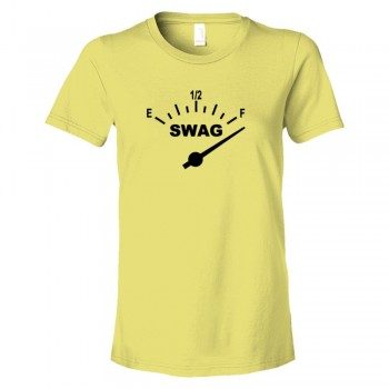 Womens Swag Meter Gas Tank Full Swag - Tee Shirt