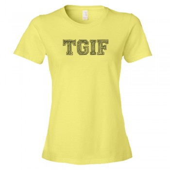 Womens Tgif Thank God It'S Friday! - Tee Shirt