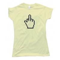 Womens The Finger Pixel Hand -Tee Shirt