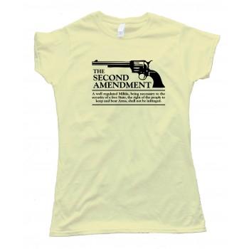 Womens The Second Amendment Gun Rights - Tee Shirt