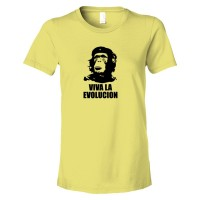 Womens Viva La Evolucion Che Guevara Chimp - Tee Shirt