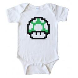 Mario Brothers 1Up Mushroom Baby Bodysuit