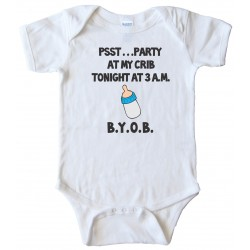 Party At My Crib Tonight Baby Bodysuit