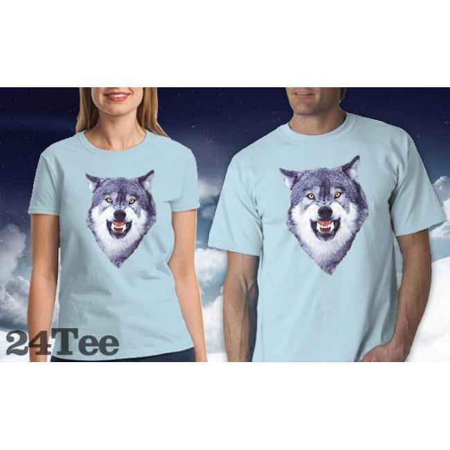 courage wolf tee shirt