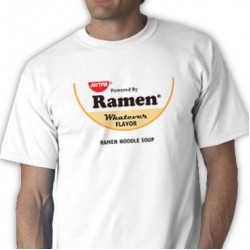 Powered By Ramen Tee Shirt