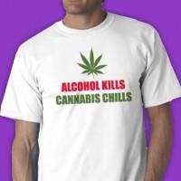 Alcohol Kills Cannabis Chills Tee Shirt