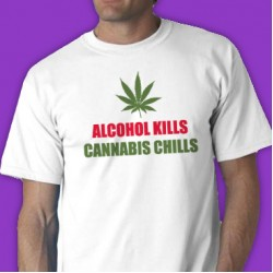 Alcohol Kills Cannabis Chills Tee Shirt