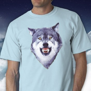 Courage Wolf Tee Shirt