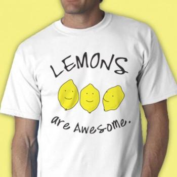 Lemons Are Awesome Tee Shirt