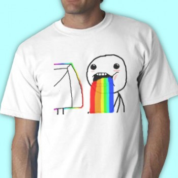 Omg Rainbow Tee Shirt