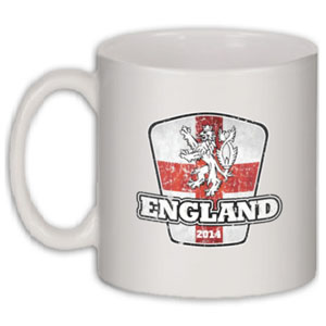 England 2014 World Cup Coffee Mug