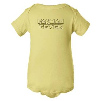Baby Bodysuit Pacman Fever Classic Gaming Logo