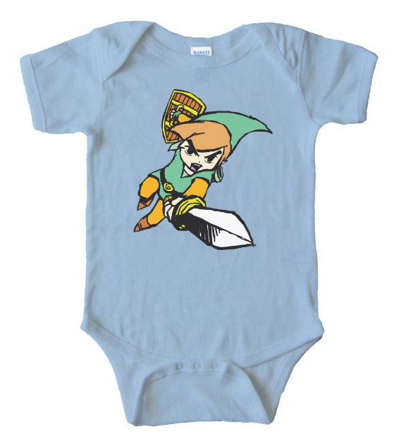 Link Legend Of Zelda - Baby Bodysuit