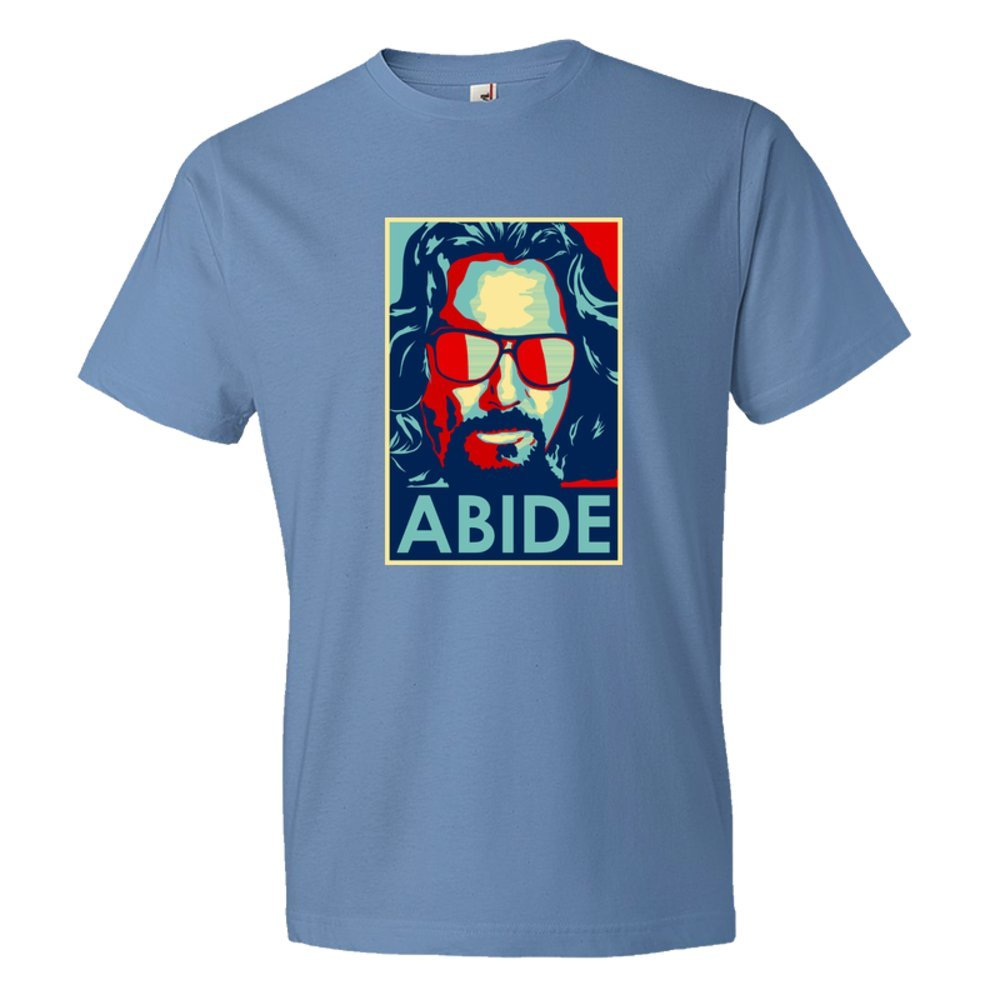 Abide The Dude From The Big Lebowski Obama Style Poster - Tee Shirt