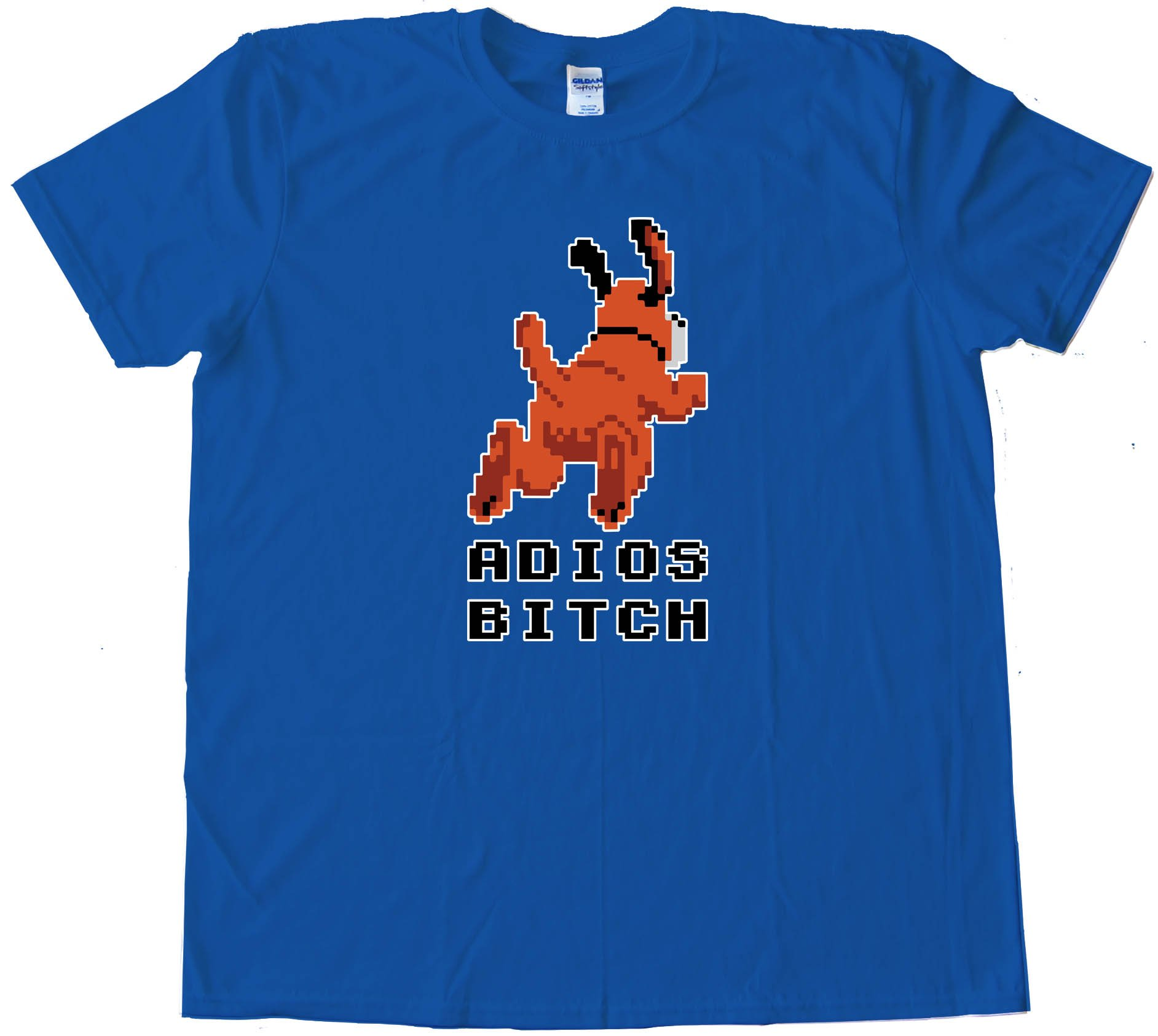 Adios Bitch Nintendo Duck Hunt Dog - Tee Shirt