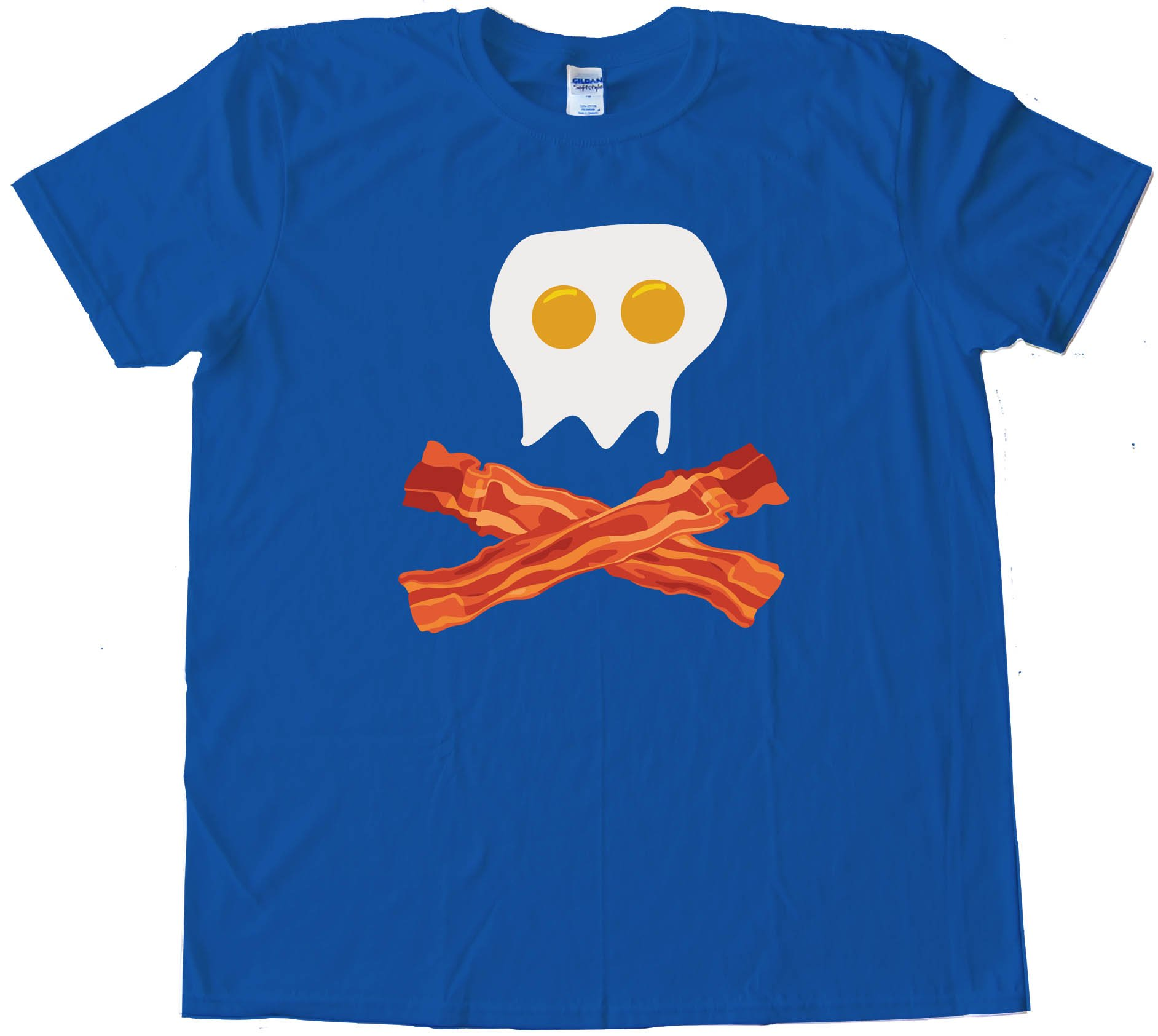 Bacon And Eggs Skull &Amp; Crossbones - Breakfast Pirate - Tee Shirt