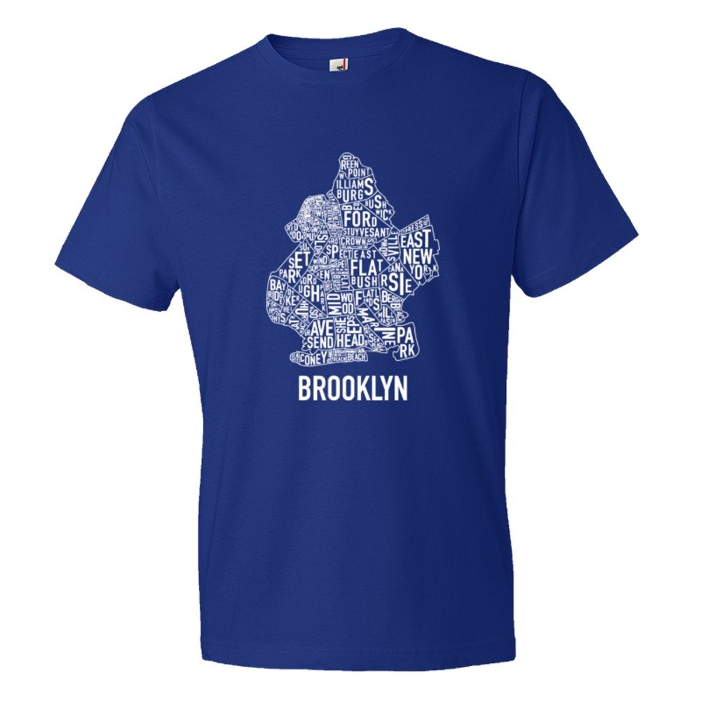 Brooklyn Map With Area Names - Tee Shirt