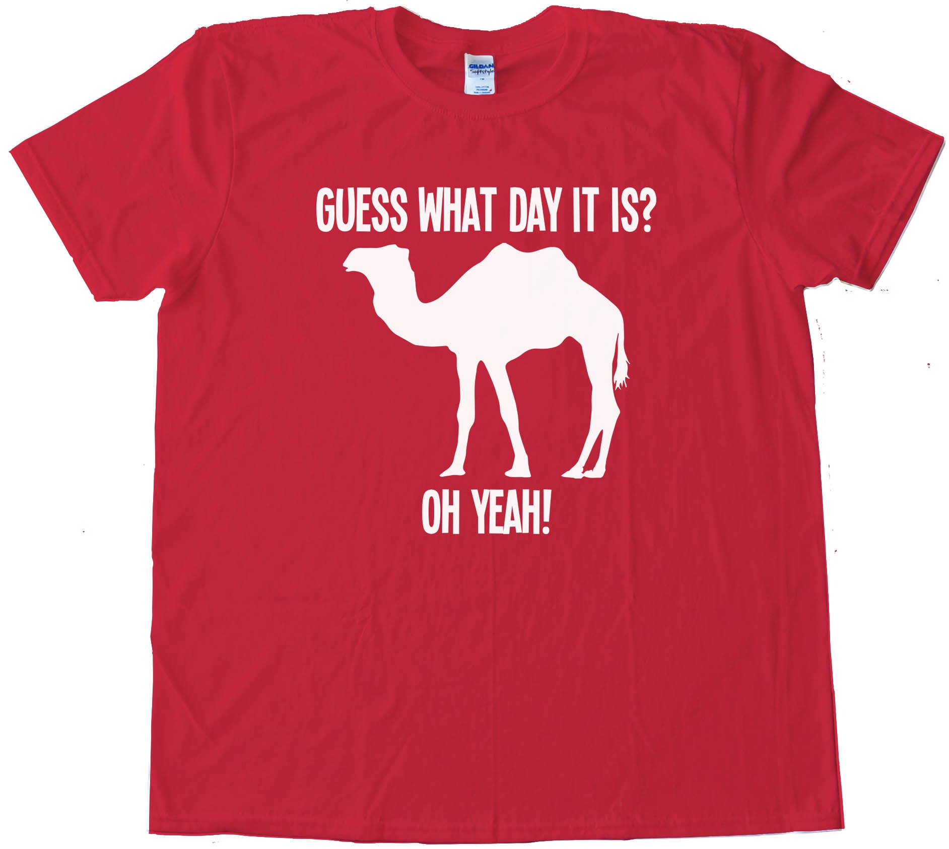 Camel Silhouette Guess What Day It Is - Tee Shirt