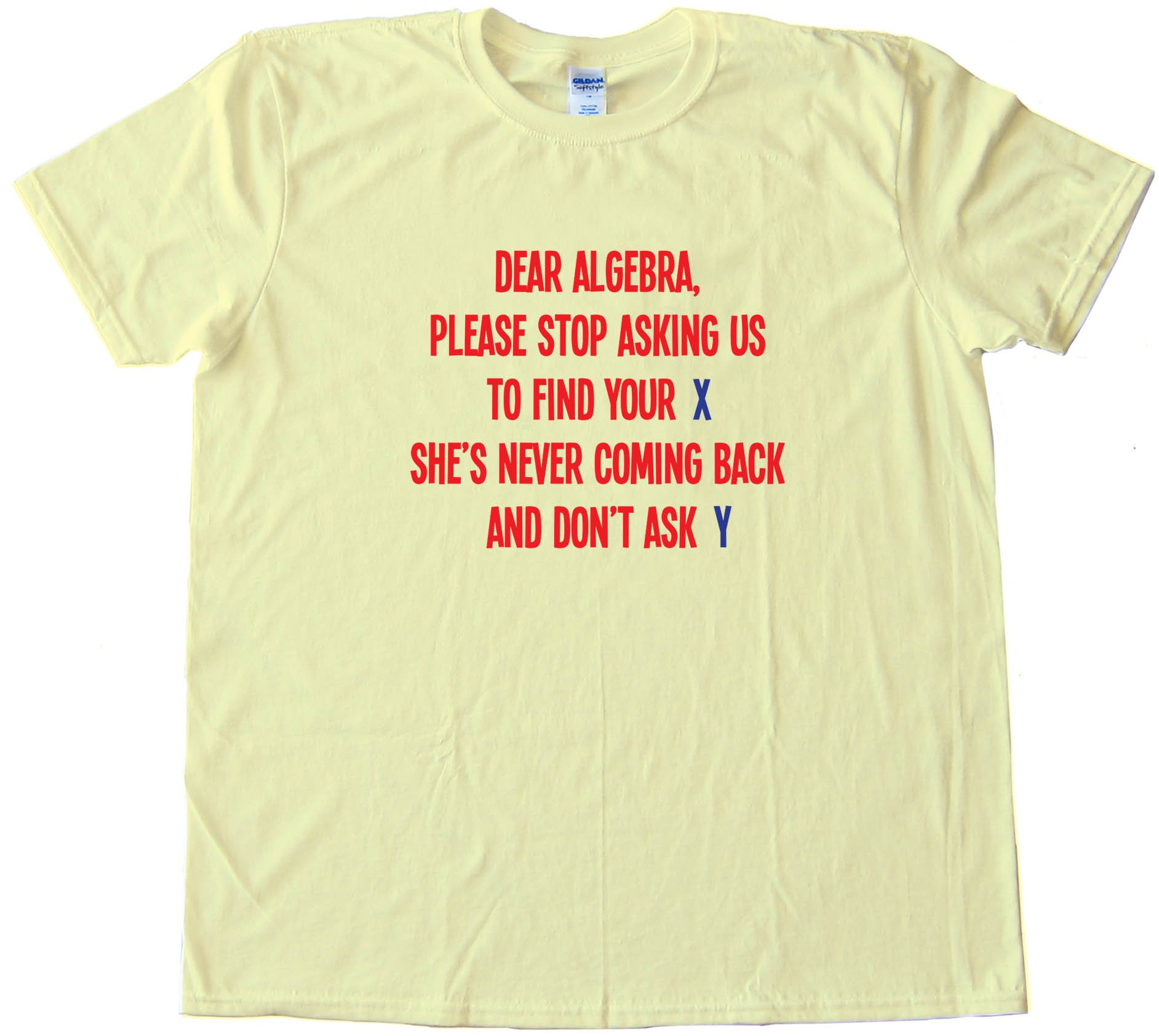 Dear Algebra Please Stop Asking Us To Find Your X - Tee Shirt