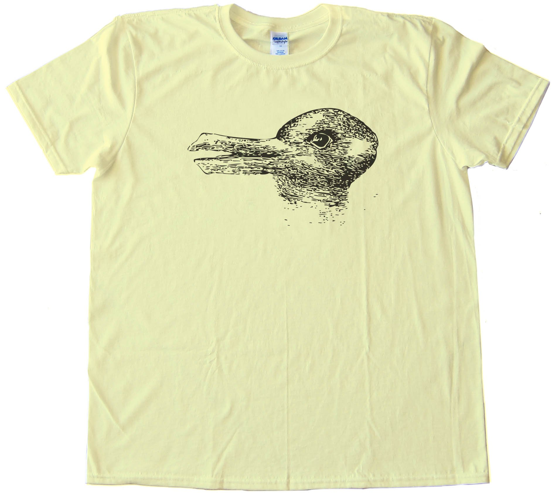 Duck Season Rabbit Season - Optical Illusion - Tee Shirt
