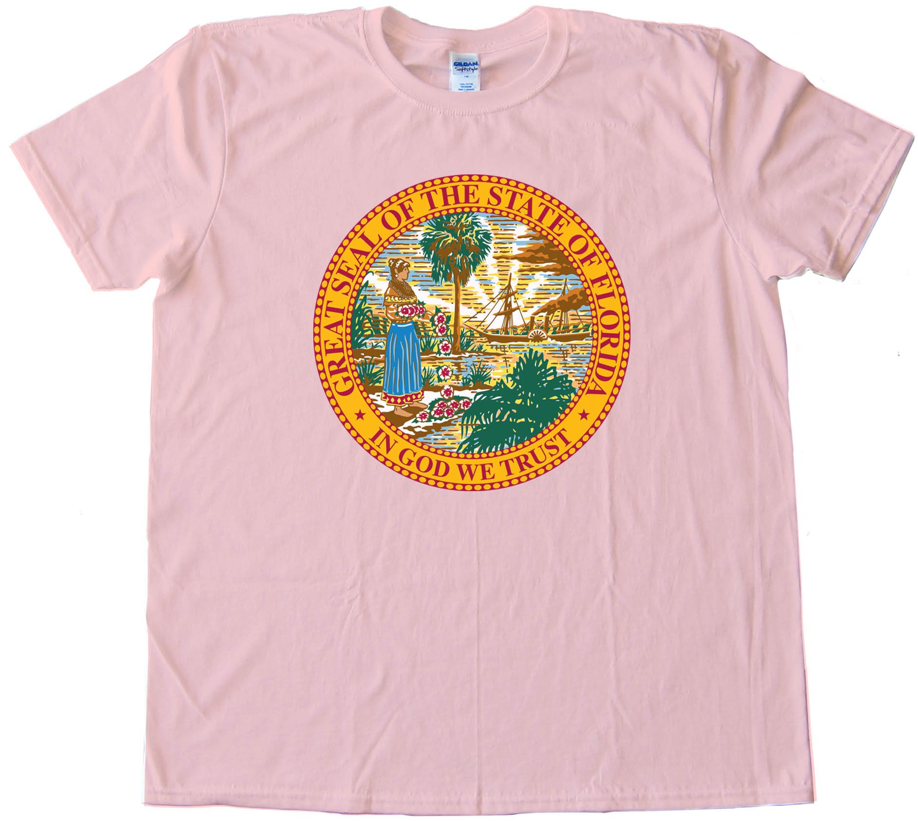 Great Seal Of The State Of Florida State Flag - Tee Shirt