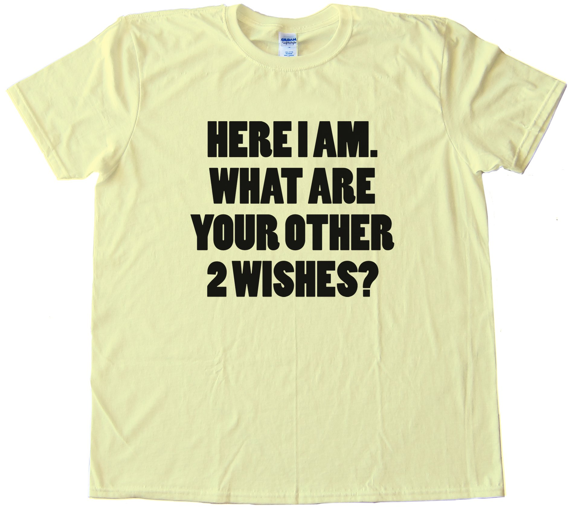 Here I Am What Are Your Other Two Wishes Tee Shirt